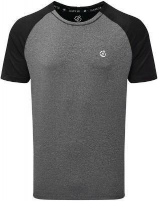 Dare 2b Peerless Koszulka Mężczyźni, szary/czarny S 2021 Odzież do jogi