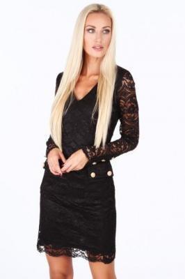 Sukienka koronkowa czarna G5186