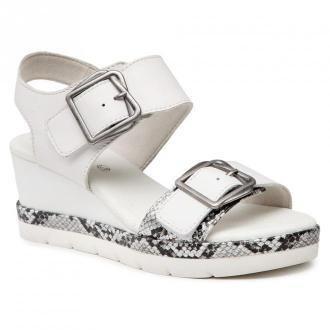 Sandały JANA - 8-28315-34  White 100