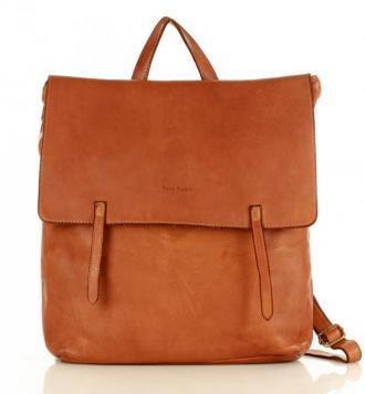 Marco Mazzini Plecak Indiana Jones genuine leather A4 brąz karmel