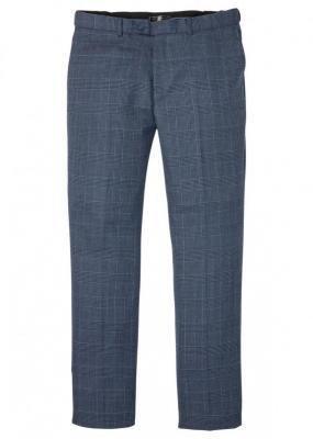 Spodnie garniturowe modułowe, Slim Fit bonprix niebieski w kratę