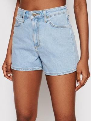 Lee Szorty jeansowe Carol L37CMWJU Niebieski Loose Fit