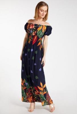 Letnia sukienka z kwiecistym wzorem