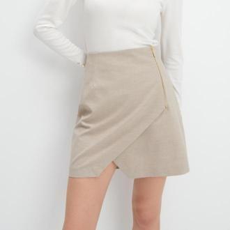 Mohito - Asymetryczna spódnica - Beżowy