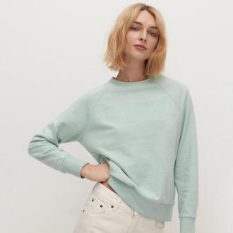 Reserved - Bluza z bawełny organicznej - Turkusowy