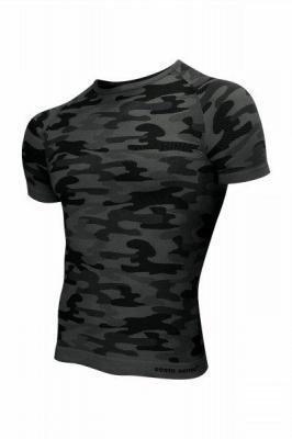 Sesto Senso Thermo Active Military Style krótki rękaw grafit Koszulka męska
