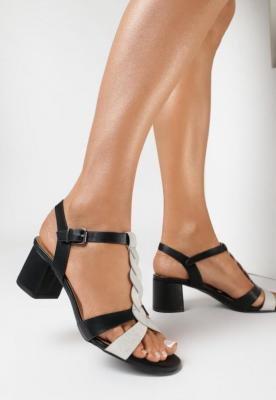 Czarne Sandały Doriena