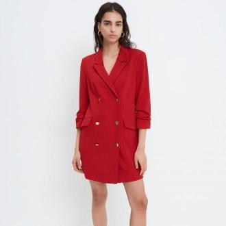 Mohito - Sukienka o kroju marynarki Eco Aware - Czerwony