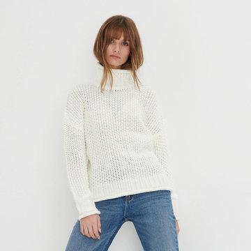Sinsay - Sweter z golfem - Kremowy