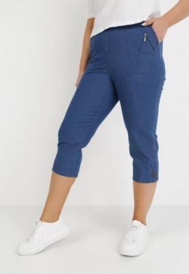 Granatowe Spodnie Athizose
