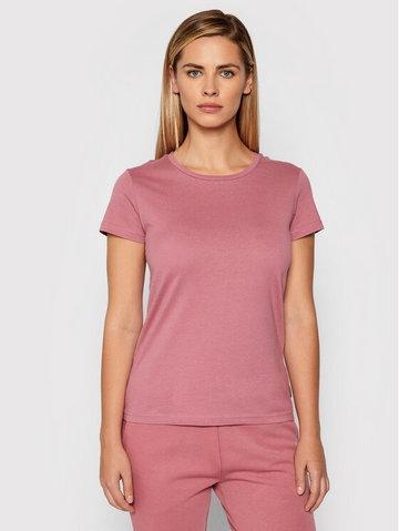 Outhorn T-Shirt TSD606 Różowy Regular Fit