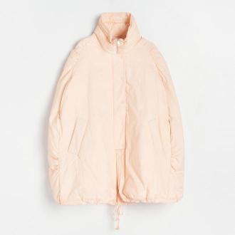 Reserved - Peleryna z kreszowanej tkaniny - Różowy