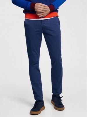 Vistula Spodnie materiałowe Malcolm XA0868 Granatowy Regular Fit