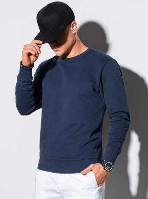Bluza męska bez kaptura bawełniana B1146 - granatowa - XXL