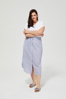 Lniana spódnica z wiązaniem