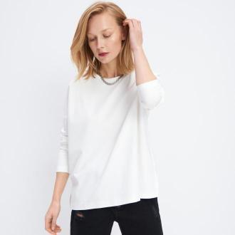 Mohito - Bluzka oversize w paski - Biały