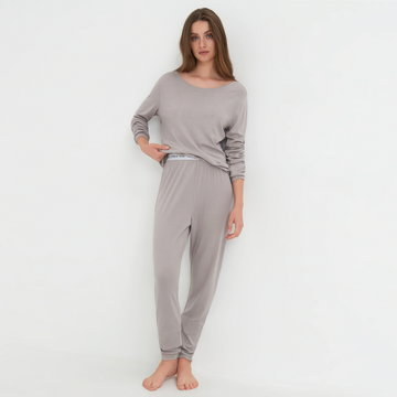 Sinsay - Piżama dwuczęściowa - Jasny szary