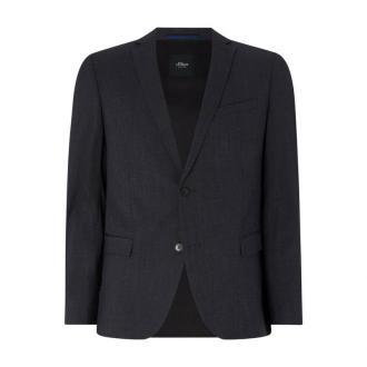 Spodnie do garnituru o kroju slim fit w kant
