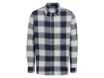 LIVERGY® Koszula flanelowa męska z bawełny, 1 sztuka (M (39/40), Duża kratka/granatowy)