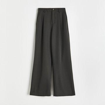 Reserved - Spodnie garniturowe - Khaki