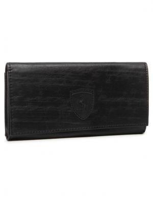 Puma Duży Portfel Damski Sf Ls Wallet F 053476 01 Czarny
