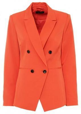 Żakiet dwurzędowy bonprix czerwona pomarańcza