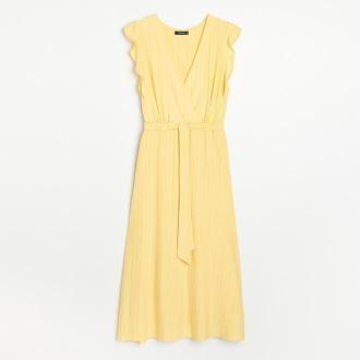 Reserved - Sukienka midi - Żółty