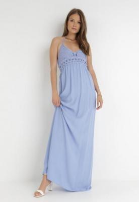 Niebieska Sukienka Zerlaivo