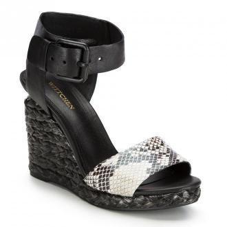 Damskie sandały skórzane z grubym paskiem