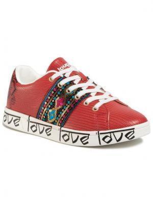 Desigual Sneakersy Cosmic Exotic Indian 20SSKP26 Czerwony