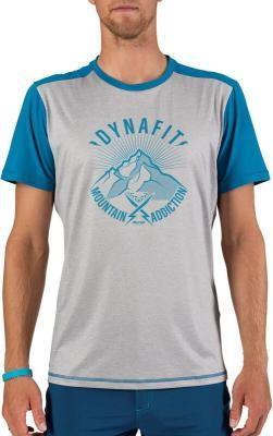 Dynafit Transalper Light Koszulka z krótkim rękawem Mężczyźni, szary/niebieski S 2021 Koszulki do biegania krótki rękaw