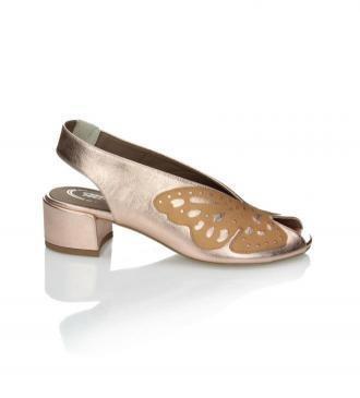 Miedziane sandały damskie : Rozmiar - 39