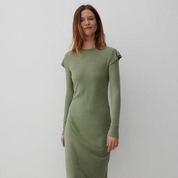 Reserved - Dzianinowa sukienka - Turkusowy