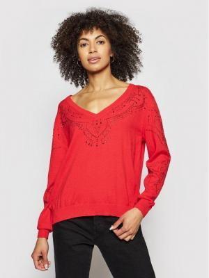 Desigual Sweter Gante 21SWJF04 Czerwony Regular Fit