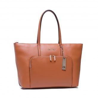 Torebka CALVIN KLEIN - Shopper Lg Saffiano K60K608554 Cognac GAC
