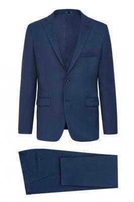 Granatowy klasyczny garnitur Lavard 34870