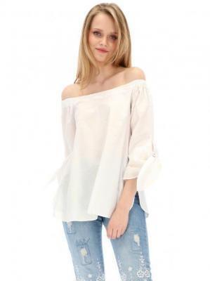 Biała bawełniana bluzka hiszpanka Desigual BLUSA