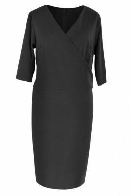 Czarna sukienka z kopertowym dekoltem gabriela 48/50
