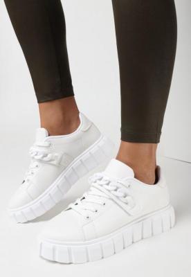 Białe Sneakersy Hekolis