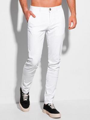 Spodnie męskie chino 1090P - białe - 30