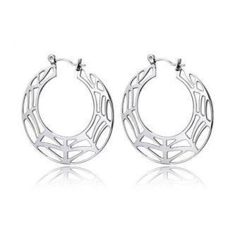 Ażurowe kolczyki damskie w kształcie koła
