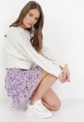 Liliowa Spódnica Nemenreisis