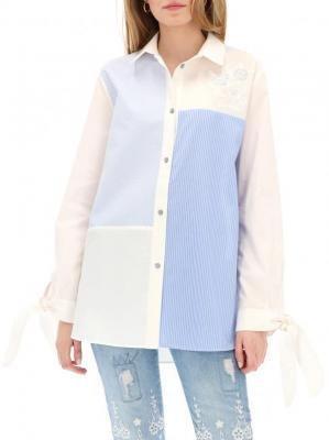 Koszula z wiązaniem na rękawach Desigual ROMA
