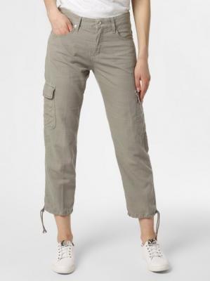 MAC - Spodnie damskie z dodatkiem lnu – Brit, zielony