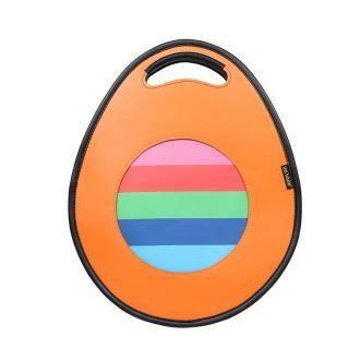 torebka damska skórzana Poly z funkcją plecaka pomarańczowa