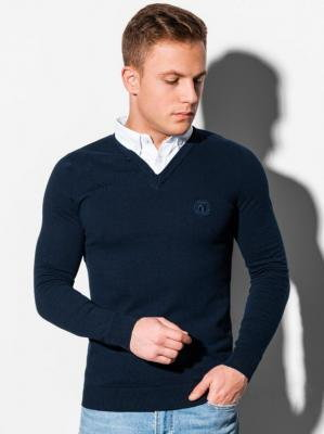 Sweter męski E120 - granatowy - XXL
