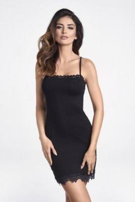 Ewana Sisi 058 Czarna damska koszula nocna