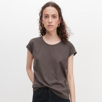Reserved - T-shirt basic z bawełny organicznej - Szary