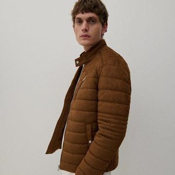 Reserved - Pikowana kurtka - Brązowy