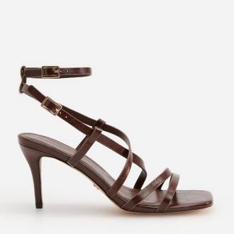 Reserved - Sandały na szpilce - Brązowy